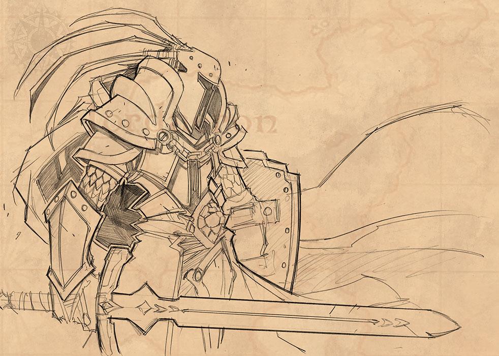 рисунки карандашом 3 warcraft
