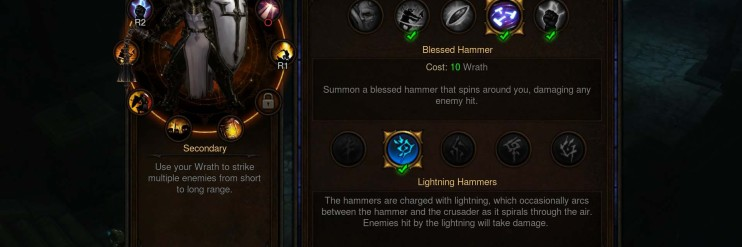 Crusader - Secondary: Lightning Hammers