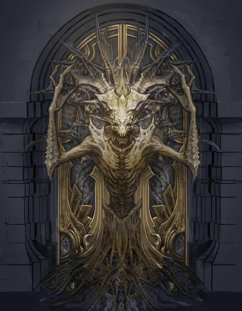 Blizzplanet blizzcon 2013 diablo iii reaper of souls concept art blizzplanet - Several artistic concepts for main door ...
