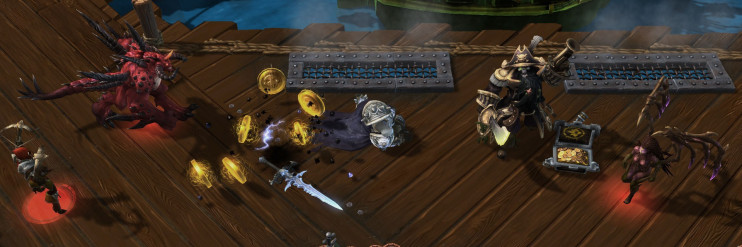 Arthas dies & doubloons scatter