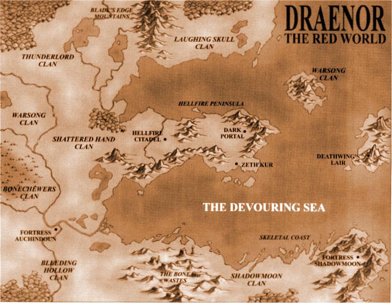 warcraft 2 world map