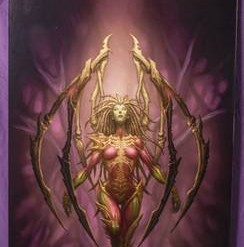 blizzard-employee-kerrigan-queen-of-blades-original-artwork-by-glenn-rane-600x450